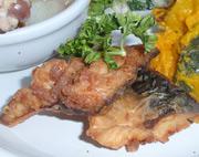 鯖のガーリック風味揚げ