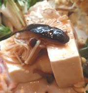 島田さん蒸し豆腐のきのこあんかけ