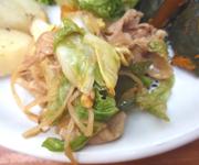 田園豚バラ肉と長野県大北八坂村の有機キャベツのホイコーロー