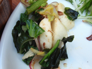 すき昆布と有機小松菜の土佐和え